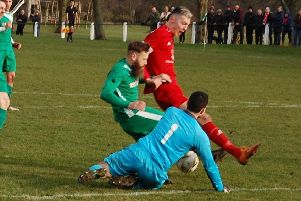 Lewis Payne (in red) played a key role for Tayport after his introduction. Stock image.