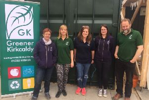 Members of Greener Kirkcaldy who will officially open their new premises on May 1.