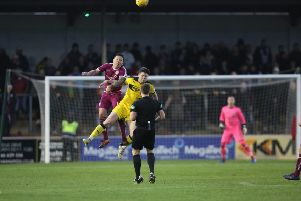 Action from the previous meeting at Gayfield in December, which Raith won 2-0. Pic: Graham Black