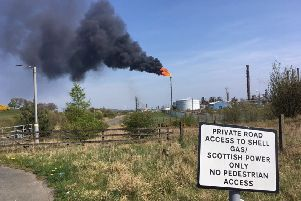 Flaring at Mossmorran (Pic: Fife Free Press)