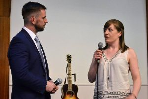 Rachel Smith, pictured sharing her life story at a previous graduation