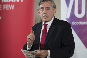 Gordon Brown (Pic: John Devlin)