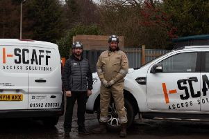 From left: Ross Brown and David Campbell who own I-scaff Access Solutions.