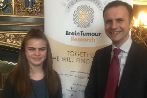 Maisie and MP Stephen Gethins.