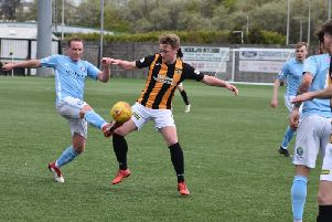 Chris Kane played his final game for East Fife on Saturday. Pic - Kenny Mackay.