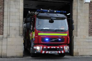 Firefighters were called out to Cardenden