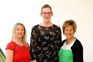 Melanie, Louise Duncan, fundraising co-ordinator and Alison. Pics by Walter Neilson.