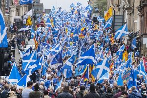AUOB march in Glasgow - now it is coming to Fife (Pic: John Devlin)