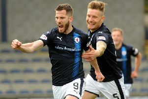 Raith Rovers are in play-off action at Stark's Park.