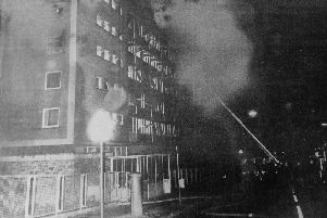 The fire at nurses home at Victoria Hospital. One died and 17 were injured when  the building caught fire with alarming speed at 1.00 am. Many nurses threw mattresses out the windows and then leapt to safety.