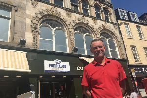 Mike Lowe owner of Cupcake Coffeebox Kirkcaldy who has plans to open a new hub area upstairs at the existing building.