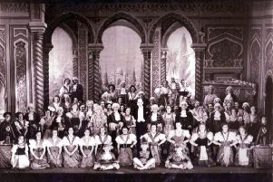 KGASS's company in costume at the Adam Smith Halls for 'The Gondoliers' in 1950.