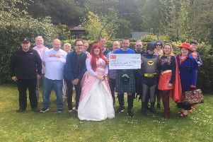 The volunteers raised more than a quarter of a million pounds.