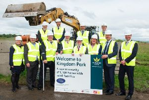 Kingdom Park, Kirkcaldy - works starts on 1000 homes next to A92. Representatives from Murray Estates were joined by Scottish Government housing minister Kevin Stewart MSP, David Torrance MSP and local councillors.