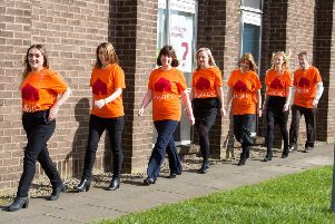 Some of the participants who have signed up for this year's Maggie's Fife Twilight Walk: Katie Wilson, Carrie Cairns, Roz Brown, Lindsey Brown, Elaine Mathers, Lisa Martin and Iain Haywood.