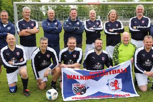 Members of the Raith Rovers Community Foundation Walking Football section who introduced Walking Football as a new concept to the people of Ingolstadt.