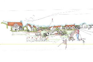 Artist impression of Cala Homes development for 85 houses at land off Main St Aberdour
