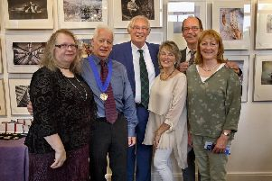 Jim Leishman, Provost of Fife was on hand to formally declare the Scottish International Salon of Photography open to the public.
