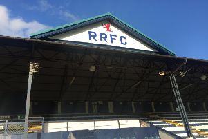 The Main Stand at Stark's Park.