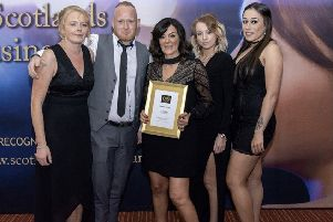 Elaine and her staff picked up the award at a ceremony held in the Marriott in Glasgow.