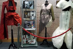 Some of the students' creative fashion work on show at the Fife College Festival.