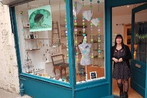 Suzie Provan at her new shop Little Emporium in the Olympia Arcade in Kirkcaldy.