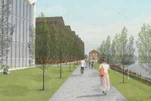 An artist's impression of St Andrews University's Eden Campus