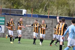 The Methil men will be reaching for the play-offs, or even better, when the new season starts.'Pic Kenny Mackay.