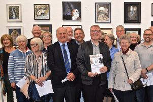 Councillor Brian McGinley at the opening of the 36th McKechnie Open Art Exhibition, which runs until September 21.