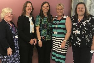 Health officials at the launch of the new forensic suite at Queen Margaret Hospital, Dunfermline, for victims of rape and saexual abuse