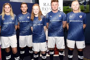 The new Raith Rovers home strip. Pictures: Fife Photo Agency.