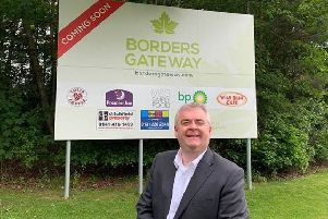 Melrose councillor David Parker at the site of the proposed Borders Gateway development in Tweedbank.