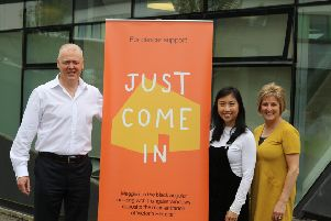 Pictured are Scott Cairns, James Donaldson & Sons MD, Tumond Edwards, Centre Fundraising Manager Maggies and Alison Allan, Centre Head, Maggies Fife.