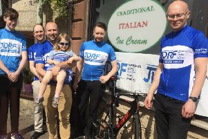 Giacopazzi's staff who are now in training for the 120 mile cycle fundraiser.