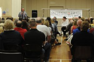 Mossmorran Action Group meeting held at Lochgelly Town Hall (Pic: George McLuskie)