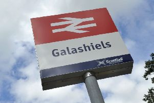 Galashiels railway station.