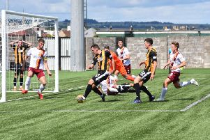 East Fife go close during a dominant first half. Pic by Kenny Mackay.