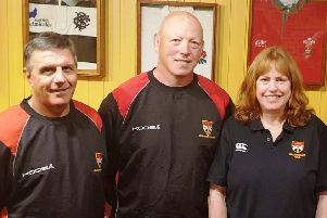 The new management team for Glenrothes: Ron Harris (head coach), David McIvor (assistant coach) and Sheila Beare (president)