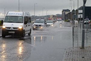 There could be a return of flood water in Kirkcaldy. Picture: Martin Blankenstein