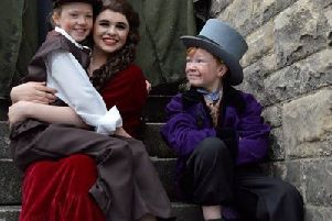 Pictured are Caoimhe Clough (Oliver), Lucy Duffy (Nancy) and Aaron MacGregor (The Artful Dodger).