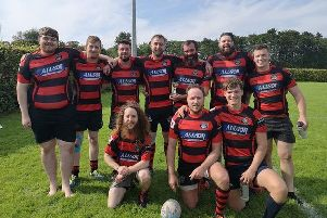 Waid Captain Fergus Middleton and his team with the Fife Festival Bowl.