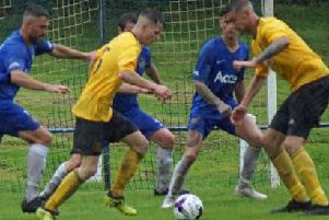Action from Saturday's match. Pic: Burntisland Shipyard