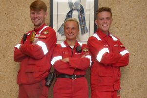 From left, Ross Drummond, Zoe Smith and Daniel Scobbie