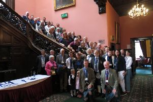 Members of the family convention which met for the first time in 300 years in Edinburgh.