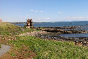 A section of the Fife Coastal Path from  Seafield, Kirkcaldy to Kinghorn has been closed.