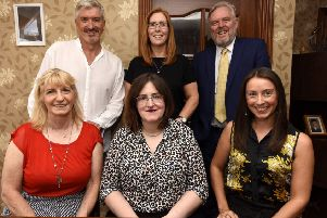 Kirkcaldy - Fife - Organisers & judges of 'Queendon of Fife Awards' -  back - Colin Wallace, Cara Forrester,  Allan Crow -  front - Lorraine Brown, Annie Crow, Jo king -(Pic: Fife Photo Agency)