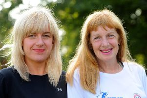 Lisa and Jacqueline Cairns, who are running the Kirkcaldy Parks Half Marathon.  Pic: Walter Neilson.