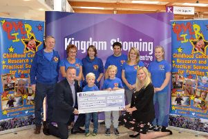 The team at Kingdom Shopping Centre  presented a cheque to representatives from Love Oliver this week for �14,302.22.