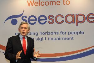 Gordon Brown, patron of Seescape (Pic: George McLuskie)