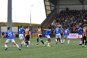 Rangers soak up some East Fife pressure.